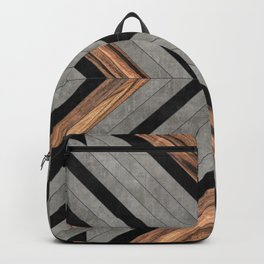 Urban Tribal Pattern No.2 - Concrete and Wood Rucksack