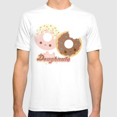 Sweet Doughnuts SMALL Mens Fitted Tee White