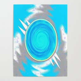 Ethereal Cosmic Looking Glass Poster