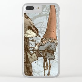 Gnome Tapper Clear iPhone Case
