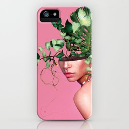 Lady Flowers VI iPhone Case
