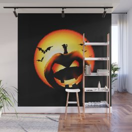 Smile Of Scary Pumpkin Wall Mural