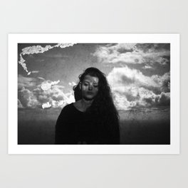 Head in the Clouds. Art Print