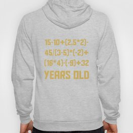 70 Years Old Algebra Equation Funny 70th Birthday Math Hoody