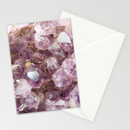 Amethyst and Gold Stationery Cards