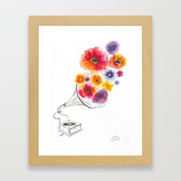 Musical flowers Framed Art Print