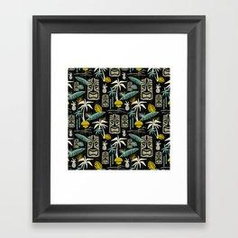 Island Tiki - Black Framed Art Print