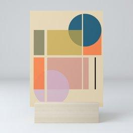 Modern geometric shapes Mini Art Print