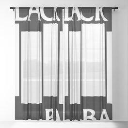Black Bag Sheer Curtain
