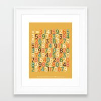 pi Framed Art Prints featuring Pi by Harrison Stone