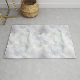 Abstract modern gray lavender watercolor pattern Rug