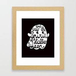 Cute Ghost - Get into the Spirit of Halloween Framed Art Print