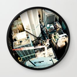 City From Above Wall Clock