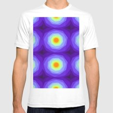 Purple Blossoms Mens Fitted Tee MEDIUM White