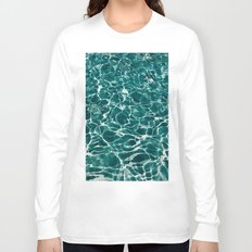 SEA - blue , white ocean , waves , clear , clarity Long Sleeve T-shirt