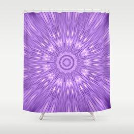 Lavender Purple Mandala Explosion Shower Curtain