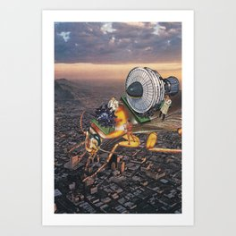 Cockroach Airways Art Print