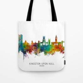 Kingston upon Hull England Skyline Tote Bag