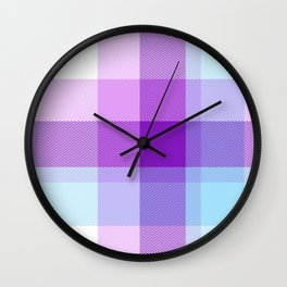 Summer Plaid 31 Wall Clock