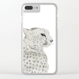 Graceful Cheetah Clear iPhone Case
