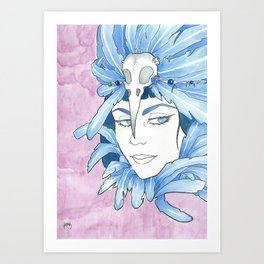Lady Crow Art Print