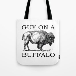 Guy on a Buffalo Tote Bag