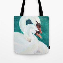 Swans Love Tote Bag