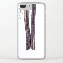 Bare Trees in Winter Clear iPhone Case