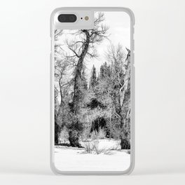 Three Trees BW Clear iPhone Case
