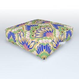 Floral Tile Outdoor Floor Cushion