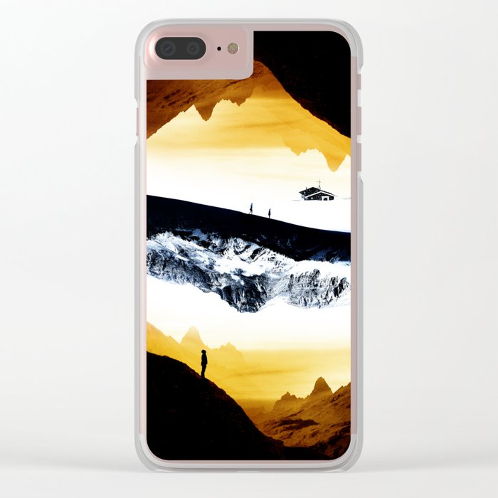 Hiking for Blue Isolation Clear iPhone Case