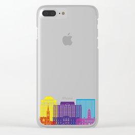 Colorado Springs V2 skyline pop Clear iPhone Case