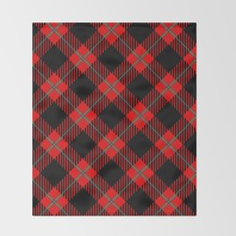 Red & Black Plaid Pattern Throw Blanket