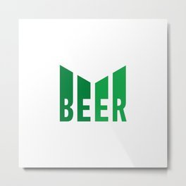 Beer lovers design  #society6 #decor #buyart #artprint Metal Print
