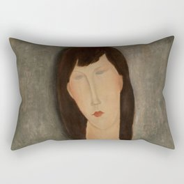 "Amedeo Modigliani ""Bust of a Woman"" Rectangular Pillow"