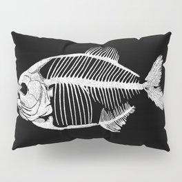 Memoria Amazonica White - Piranha Skeleton Pillow Sham