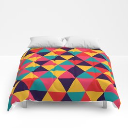 Colorful Triangles (Bright Colors) Comforters