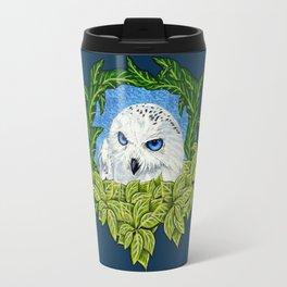 Mister Blue Eyes (Snowy Owl) Travel Mug
