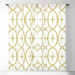 Geometric Oval and Star Pattern 131 Blackout Curtain