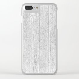 Whitewashed wood Clear iPhone Case