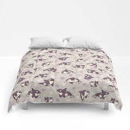 Jelly bean orcas Comforters