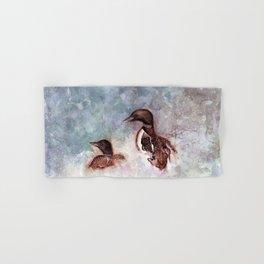 Loon Calling by Maureen Donovan Hand & Bath Towel