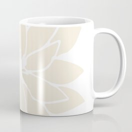Modern Cream Floral Design II Coffee Mug
