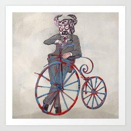 Barry Gangste Farthing - Cream Art Print