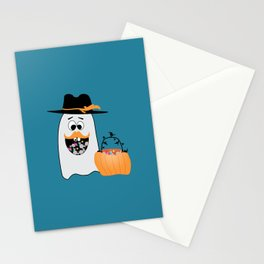 Silly Halloween Ghost Wants Your Candy Stationery Cards