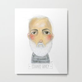 Edward Gorey Metal Print