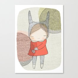 01 a3 society6 bunny cirlces rehigher res scaled up to fit edges Canvas Print