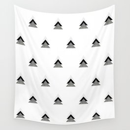 Arrows Collages Monochrome Pattern Wall Tapestry