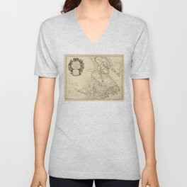 Map of Canada (circa 1718) Unisex V-Neck
