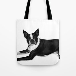 Fetch Boston Terrier B/W Tote Bag